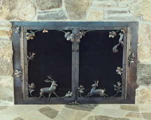 Deer fireplace