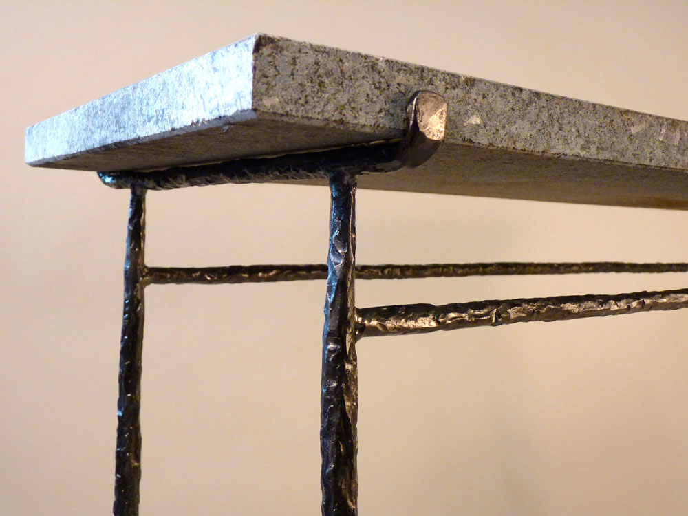 Ordinaire Granite Top Console Detail · Glass Coffee Table