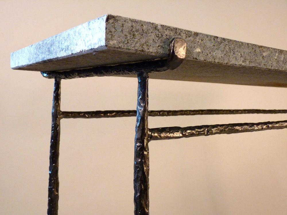 metal design furniture. Granite Top Console Detail Metal Design Furniture