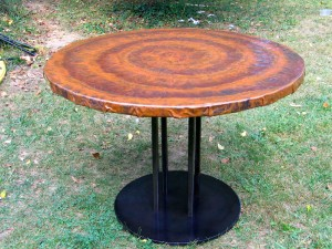 Copper dining table