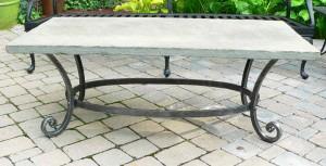 Patio table w/ bluestone