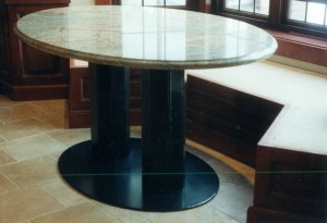 Pedestal table w/ granite