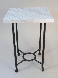 Ring base marble table
