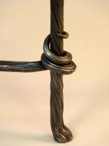 Wraped table leg