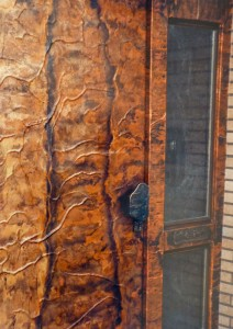 Copper euro door