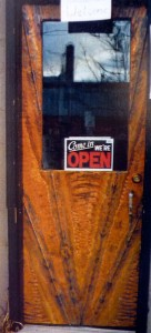 Copper store door