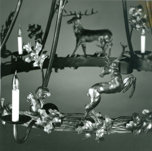 Deer chandilier detail