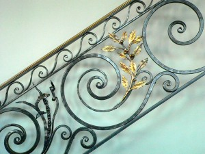Fish and Laurel railing