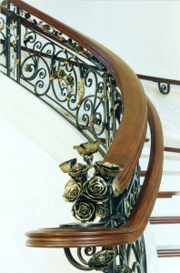 Rose railing stair
