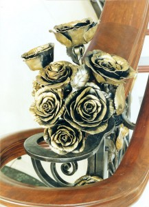 Rose railing fineal