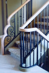Stair waterfall newel