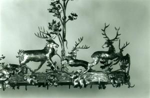 Deer and oak leaves