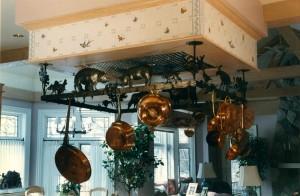 French Kitchen pot rack