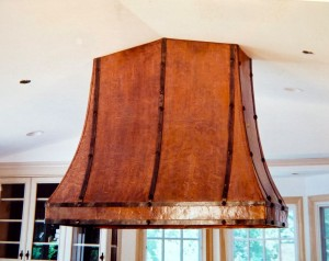 Hammered copper hood