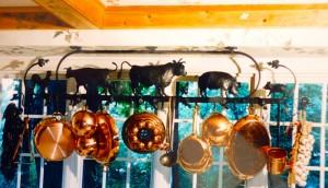 Farm animal pot rack