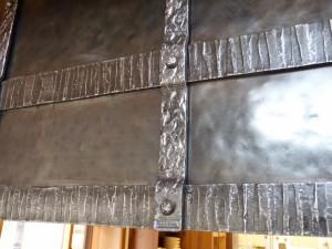 Steel hood detail