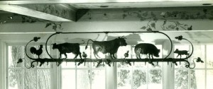Farm animals pot rack