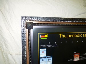 Periodic table frame detail