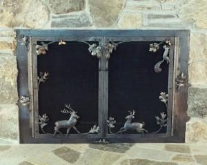 Deer fireplace