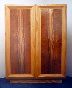 Copper paneled cabinet