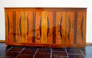 Low copper paneled cabinet