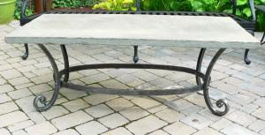 Patio table w/ bluestone