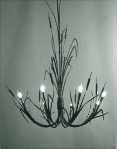 Cattail chandilier b&w