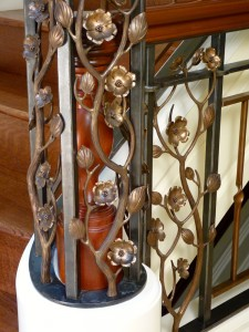 Dogwood newel post