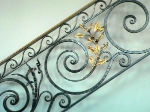 Fish and Laurel railing