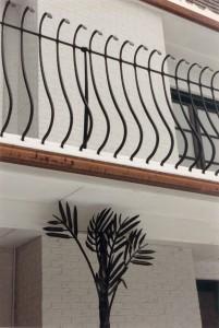 Palm tree railing