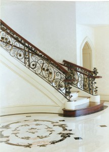 Rose railing stairs