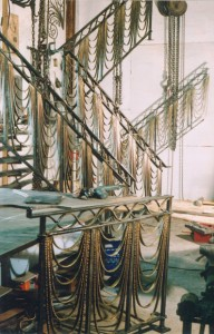 Pearls railing in studio