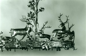 Deer and oak leaves