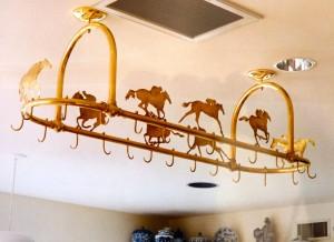 Racehorse pot rack