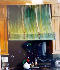 Verdi gris patina hood