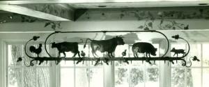 Farm animals pot rack