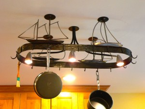 Sailboat kitchen rack